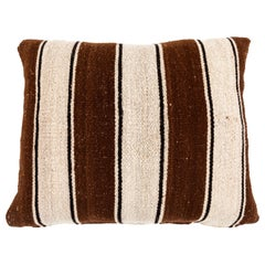 Brown Striped Peruvian Pillow
