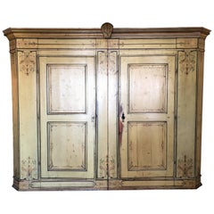 18th Century Hand Painted French Baker's Cupboard