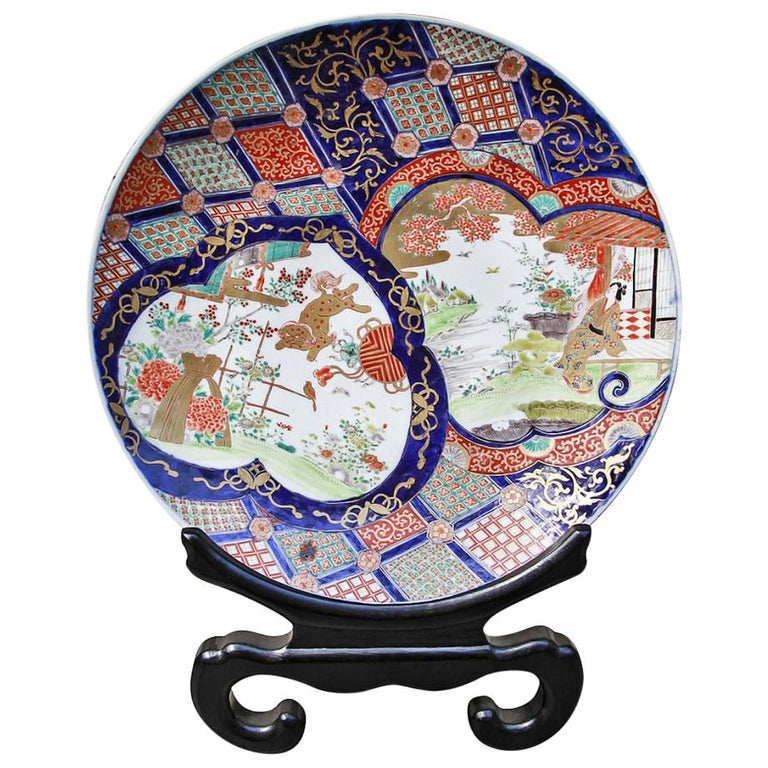 Japanese Meiji Period Imari Porcelain Charger, 19th Century For Sale