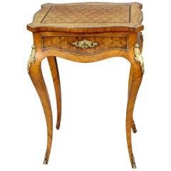 Elegant Late 19th Century French Marquetry Ladies Vanity Table