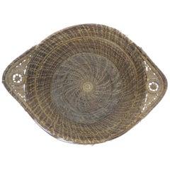 Vintage Pine Needles Decorative Artisanal Basket