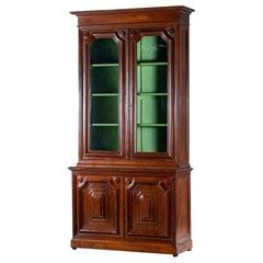 Tall Antique French Oak Bibliothèque Bookcase Display Cabinet, circa 1870
