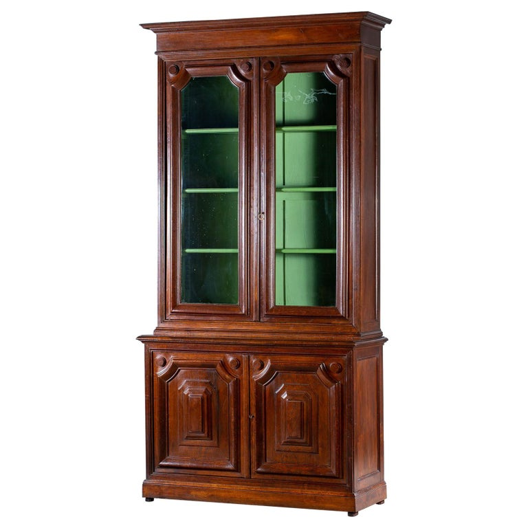 Peachy Tall Antique French Oak Bibliotheque Bookcase Display Cabinet Circa 1870 Download Free Architecture Designs Scobabritishbridgeorg