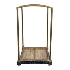 19th Century English Brass and Cast Iron Umbrella Stand