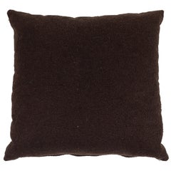 Italian Contemporary Brown Cashmere Pillow