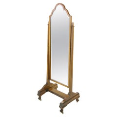 Antique Cheval Mirror, Dressing Mirror, Full Length Mirror, Scotland, 1910