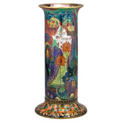 Fairyland Lustre Torches Pillar Vase by Wedgwood