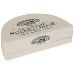 English Stoneware Tuxford & Tebbutt Stilton Cheese Box