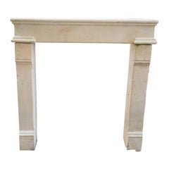 Louis XIV Limestone Fireplace