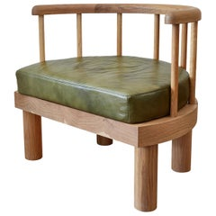 Oiled White Oak Spindle Back Bone Arm Chair by Casey McCafferty