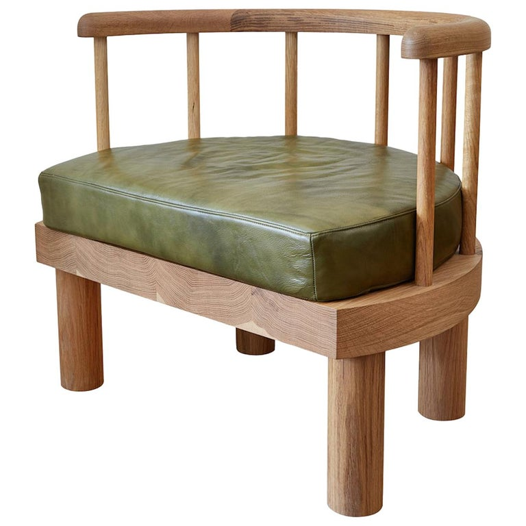 Oiled White Oak Spindle Back Bone Arm Chair by Casey McCafferty For Sale