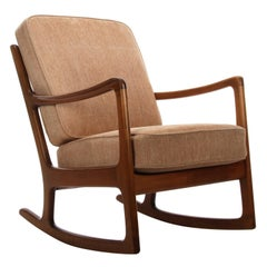 FD 108 Rocking Chair by Ole Wanscher for France & Daverkosen in 1951