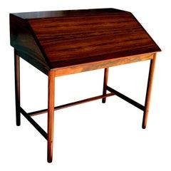 Mid-Century Modern Scandinavian Secretary Desk in Rosewood