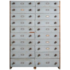 Built-In Archival Bank of Drawers, America, circa 19th Century