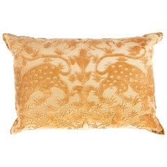 Bevilacqua Animal Motif 'Bestiario' Handcut Gold Velvet Pillow
