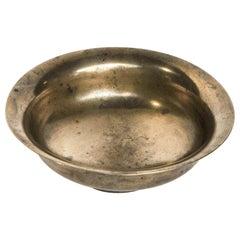 Vintage Tibetan Tsampa Bowl, Bronze, Tibet, Early to Mid-20th Century