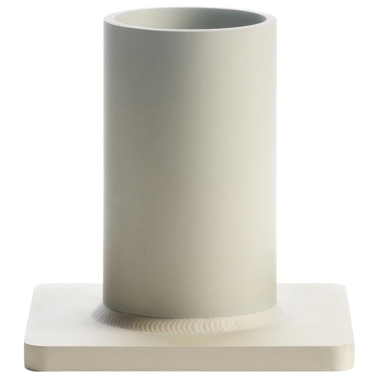 Bead Vase 17H Soft Gold For Sale