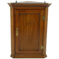 Hanging Corner Cabinet, Antique Cabinet, Oak, 18th Century