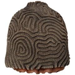 Textured Studio Pottery Terracotta Vase