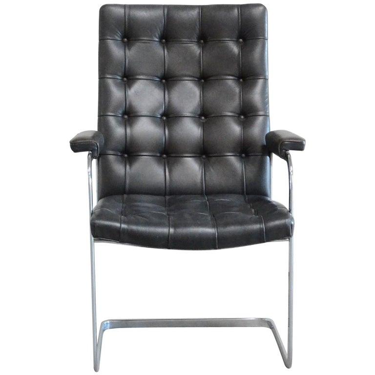 Robert Haussmann De Sede Rh 305 Highback Chair Black For Sale