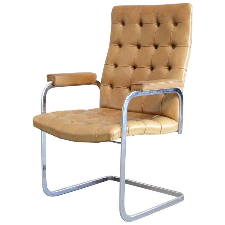 Robert Haussmann De Sede RH 305 Highback Chair Cognac For Sale