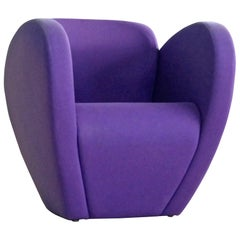 Ron Arad Lounge Chair Model in Purple Wool for Moroso, Italy