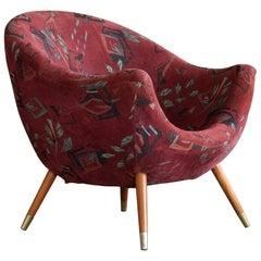 Italian Midcentury Lounge Chair in the Style of Gio Ponti, circa 1960