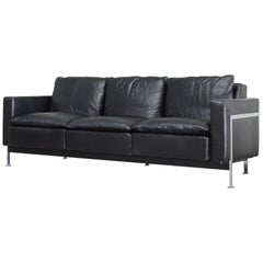 Robert Haussmann for Hans Kaufeld or De Sede RH 302 Leather Sofa First Edition