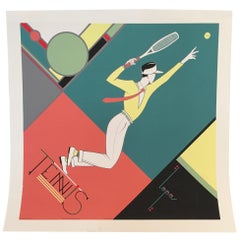 French Sport Poster 'Tennis' by Charles Lepas
