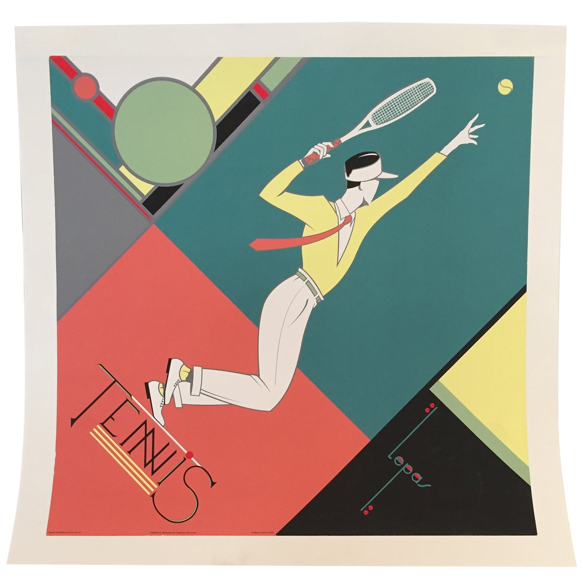 Tennis Posters 18 For Sale On 1stdibs