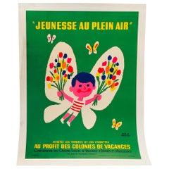 Original Vintage French Advertising Poster for Children by Herve Morvan, 1965