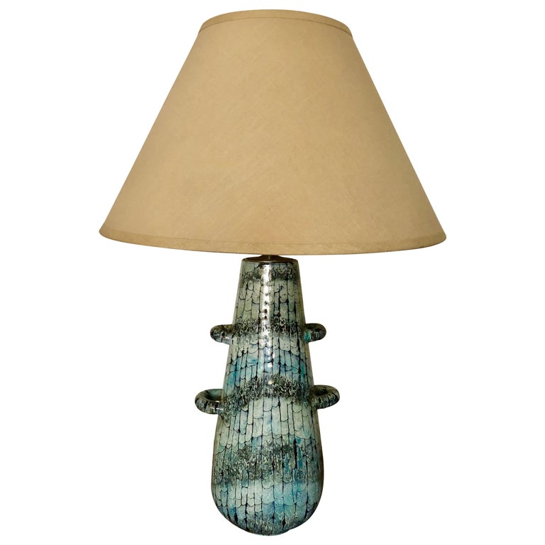 Venetian Ceramic Table Lamp by San Polo For Sale