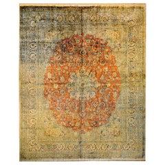 Incredible Vintage Silk Indian Isfahan Rug