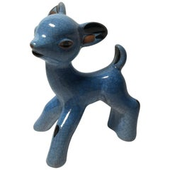 Karlsruhe Majolika Ceramic Deer by Walter Bosse
