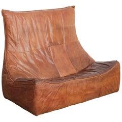Gerard Van Den Berg 'Rock Sofa' for Montis in Cognac Leather