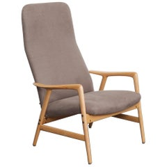 Alf Svensson Designed Beech Reclining Chair for DUX, Sweden, 1950s