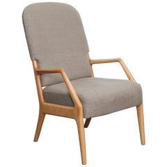 Orla Molgaard Nielsen for France & Daverkosen Beech Lounge Chair, Denmark, 1950s