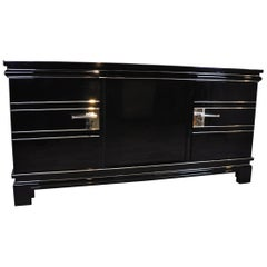 Art Deco Sideboard Chrome Liner Cubic Design  Extra Large