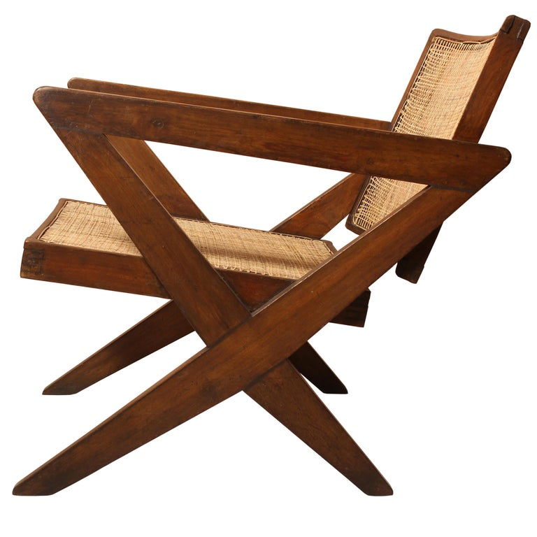 "Pierre Jeanneret AUTHENTIC ""X-Easy Armchair"" from Chandigarh For Sale"
