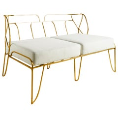 Brass Hand-Sculpted Sofa Misaya