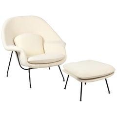 Womb Chair and Ottoman Eero Saarinen Knoll Pierre Frey Early Edition