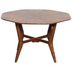 Swedish 1950s Rosewood Octagonal Coffee Table