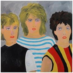'Bananarama' 1980s Portrait Painting by Alan Fears Pop Music