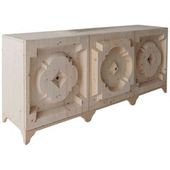 Sculptural Handcrafted Wood Sideboard by Sebastiano Bottos, Italia