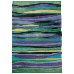 1960s Abstract Rug by V'Soske Wall Art Decoration