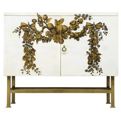 """Piero Fornasetti Cabinet """"Panoplie"""" with Lithographic Print"""