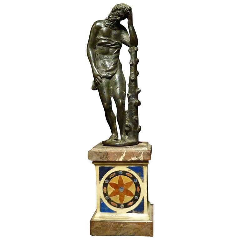 Figure in Dark Patina Bronze, Depicting Hercules For Sale