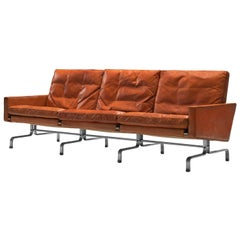 Poul Kjaerholm PK31 Sofa in Cognac Leather