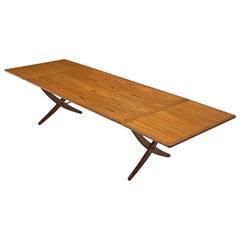 Hans J. Wegner Extremely Large AT309 Drop-Leaf Table