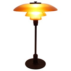 PH 3/2 Tablelamp with Amber Colored Shades, by Poul Henningsen, 1930s